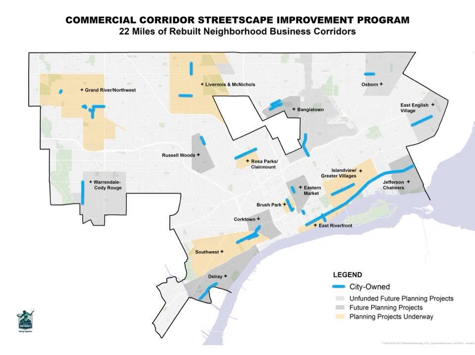 23 Detroit Neighborhood Corridors To See $125M In Bond Funds on