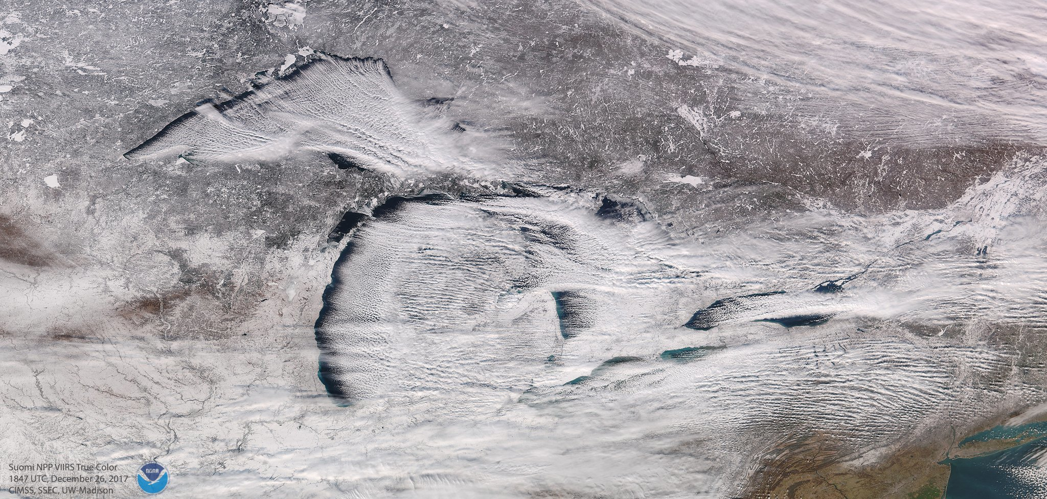 Michigan On Christmas Day Looked Beautiful (And Cold) From Space