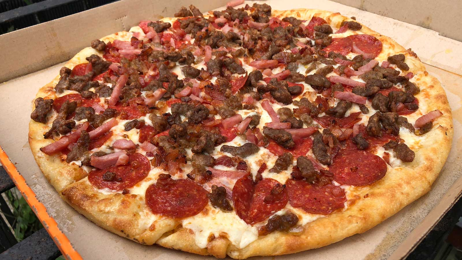 Podcast First Taste Test Of The New Little Caesars 5 Meat Pizza And