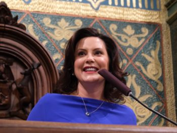 Governor Whitmer delivering the State of the State